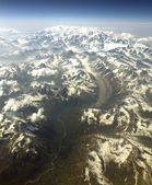 Mt McKinley from the air — Stock Photo