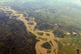 River from the air — Stock Photo