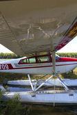 Zwevende vliegtuig — Stockfoto