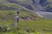 Weather station in mountains — Stock Photo
