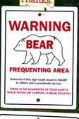 Bear warning — Stock Photo