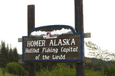 Homer alaska halibut fishing capital of the world — Zdjęcie stockowe