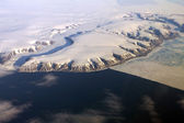 Greenland from the air — Stock fotografie