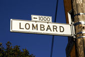 Lombard street signpost — Photo