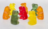 Gummy bears in circle — Stock Photo