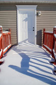 Snow covered porch. — Stock Photo