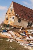 Tornado aftermath in Lapeer, MI. — Stock Photo