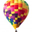 Colorful Hot Air Balloon Isolated on White — Stock Photo
