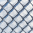 Ice coated chain link fence from an ice storm — Stock Photo #38745533
