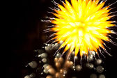 Abstract Fireworks in the Night Sky — Stock Photo