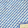 Blue and white tile on the wall in Lisbon, Portugal - Stock Photo