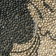 Stock Photo: Black and beige stones as background