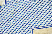 Blue and white tile on the wall in Lisbon, Portugal — Stock Photo