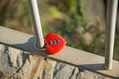 Beautiful tiny heart shaped lock — Stock Photo