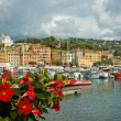 Port in small city of Santa Maria Liguria, Italy - Stock Photo