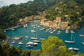 Vue imprenable sur portofino, Italie — Photo