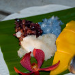 Stock Photo: Sweet steamed rice and fresh mango