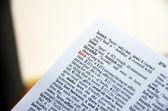 Red love word focused in dictionary — Foto de Stock