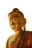 Gold plated buddha figure — Stock Photo