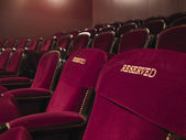 Reserved theater seats — Stockfoto