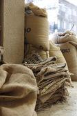 Coffee sacks — Stock Photo