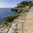 Path along the coastline in Cala Figuera — Stock Photo