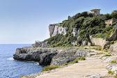 Path along the coastline in Cala Figuera — Stock Photo
