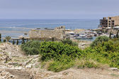 Old phoenician harbour of Byblos seen from archaeological site — Stock Photo