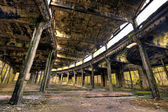 Old abandoned train roundhouse — Stock Photo