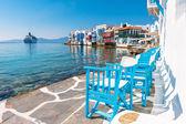 Little Venice on Mykonos Island — Stock Photo