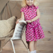 Little girl in fashion clothes. — Stock Photo