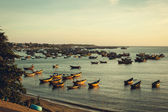 Evening seascape with boats. — Stock Photo
