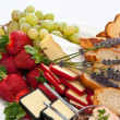 Stock Photo: Fruit and cheese platter