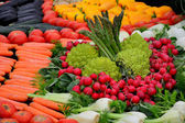 Large number of fresh vegetables — 图库照片