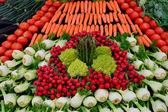 Grande número de vegetais frescos — Fotografia Stock