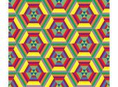 Hexagon mosaic seamless pattern — Stock Vector
