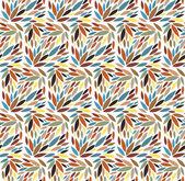 Wzór liścia bez szwu. ilustracja wektorowa — Wektor stockowy