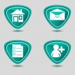 Web icons set blue — Stock Vector #11436531