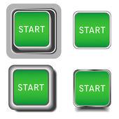 Set of start buttons — Stock Vector