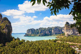 Railay beach from viewpoint, Krabi — Stock Photo