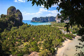 Railay beach from viewpoint — Stock Photo