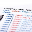 Royalty-Free Stock Photo: HTML Code