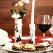 Fine table setting in gourmet restaurant (close-up) — Foto de Stock   #15541441