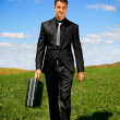 Walking businessman — Stock Photo