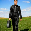 Stock Photo: Walking businessman