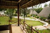 Relaxing in bungalow resort Zanzibar — Stock Photo