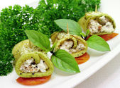 Zucchini rolls — Stock Photo