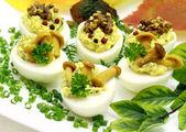 Stuffed eggs — Stock Photo