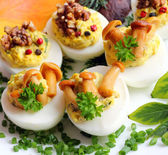Stuffed eggs — Stock Photo