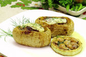 Stuffed potatoes — Stok fotoğraf